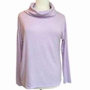 Rachel Zoe Purple Lavender Cowl Neck Sweater